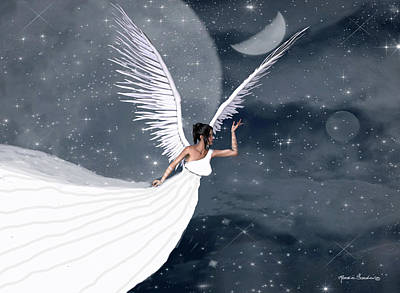 Night Angel Art Print by Rosalie Scanlon