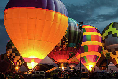 Photograph - Night At Balloon Glow by Steven Bateson