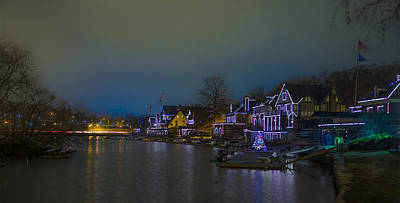 Phillies Digital Art - Night At Boathouse Row by Bill Cannon