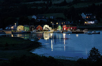 Photograph - Night At French River Harbour, Pei by Rob Huntley