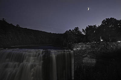 Photograph - Night At Letchworth Middle Falls by Richard Engelbrecht