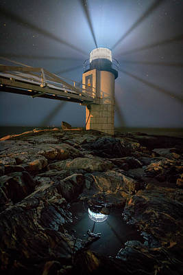 Photograph - Night At Marshall Point by Rick Berk