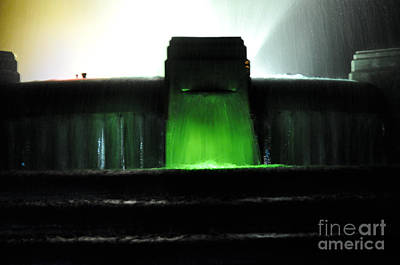 Photograph - Night At Mulholland Fountain by Clayton Bruster