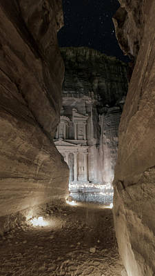 Nabatean Photograph - Night At Petra by Stephen Stookey