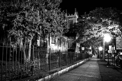 Photograph - Night At Saint James In Black And White by Greg Mimbs