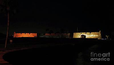 Photograph - Night At The Castillo De San Marcos by D Hackett