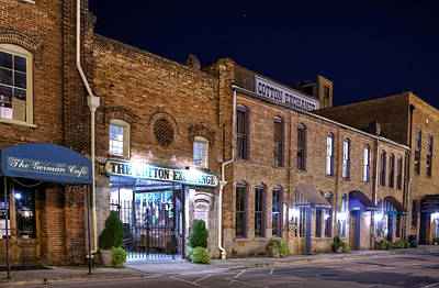 Stars Photograph - Night At The Cotton Exchange by Greg Mimbs