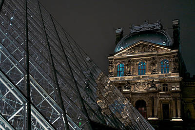 Photograph - Night At The Louvre by Lawrence Boothby