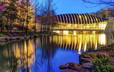 Photograph - Night At The Museum - Crystal Bridges - Bentonville Arkansas by Gregory Ballos