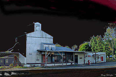 Feed Mill Digital Art - Night At The Ringtown Feed Mill by Doug Schiefer