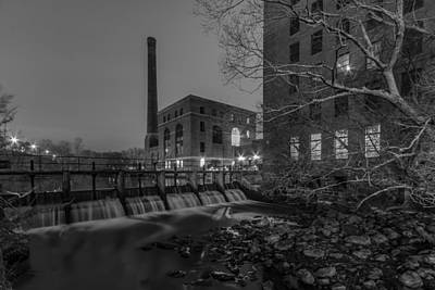 Photograph - Night At The River 2 In Black And White by Brian MacLean