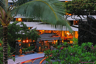 Photograph - Night At The Royal Kona Resort by Paulette B Wright