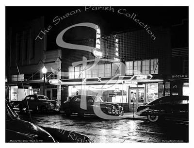 Photograph - Night At The Spar Cafe 1950 by Merle Junk
