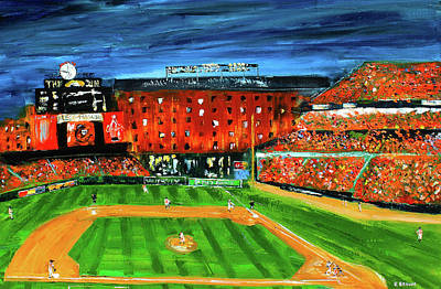 Baltimore Orioles Painting - Night At The Yard by Kevin Brown