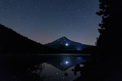 Animal Watercolors Juan Bosco - NIght at Trillium Lake by Cat Connor