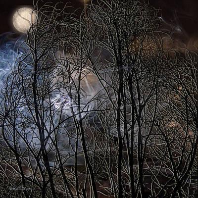 Haunted Digital Art - Night by Barbara Berney