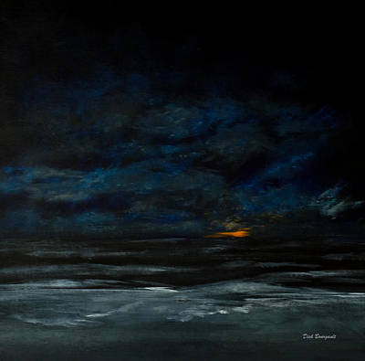 Painting - Night Beach by Dick Bourgault