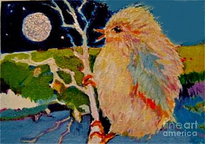 Painting - Night Bird by Diane Ursin