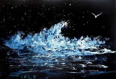 Painting - Night Bird by Fred Wilson