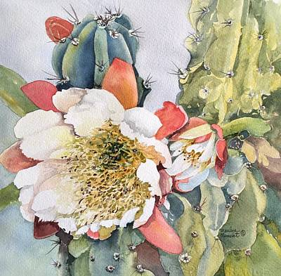 Painting - Night Bloomimg Cactus  by Marilyn  Clement
