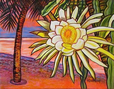 Night Blooming Cereus Painting - Night Blooming Cereus by Elizabeth Graf