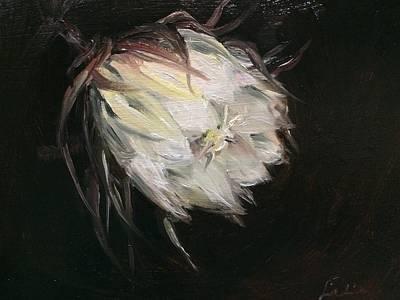 Night Blooming Cereus Painting - Night Blooming Cereus by Ladianne Henderson