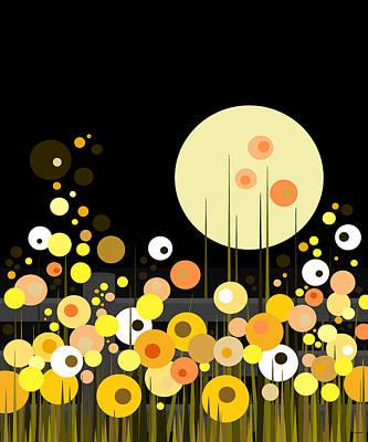 Digital Art - Night Blooming Flowers by Val Arie