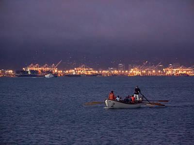 Photograph - Night Boating On San Francisco Bay by Derek Dean