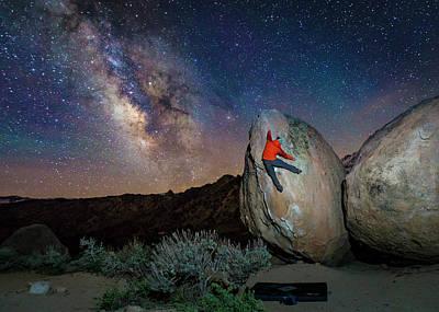 Night Bouldering Art Print by Evgeny Vasenev