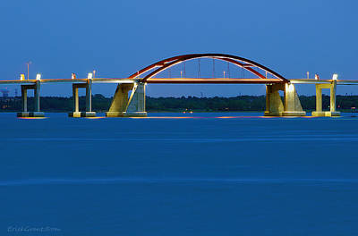 Photograph - Night Bridge by Erich Grant