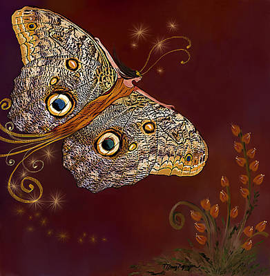 Night Butterfly  Art Print by Thanh Thuy Nguyen