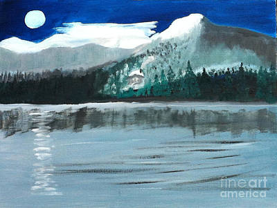 Painting - Night By Moonlight by Rod Jellison