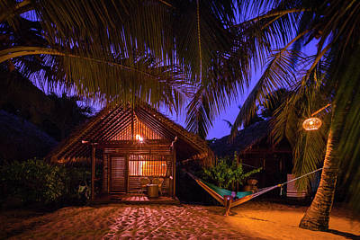 Photograph - Night Cabana by Evgeny Vasenev