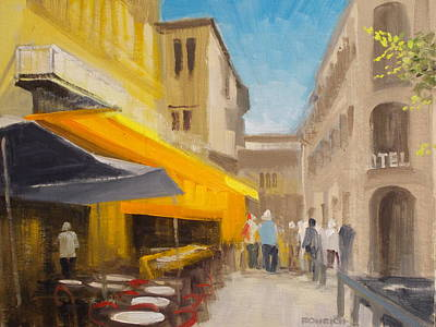 Night Cafe Arles Street Scene Original by Robert Rohrich