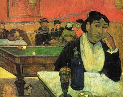 Snooker Painting - Night Cafe Ate Arles by Paul Gauguin