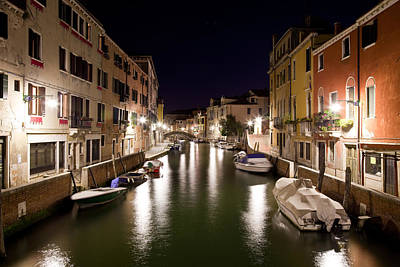 Photograph - Night Canal by Marco Missiaja