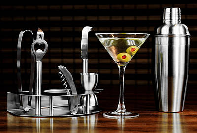 Martini Royalty-Free and Rights-Managed Images - Nightcap by Alisha Jurgens