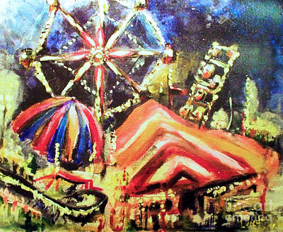 Painting - Night Carnival by Linda Shackelford
