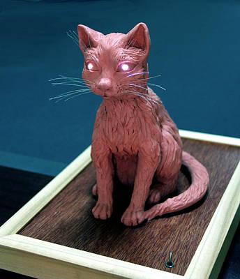 Night Cat Art Print by Yelena Rubin