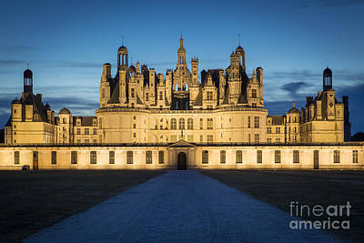 Photograph - Night Chateau by Brian Jannsen