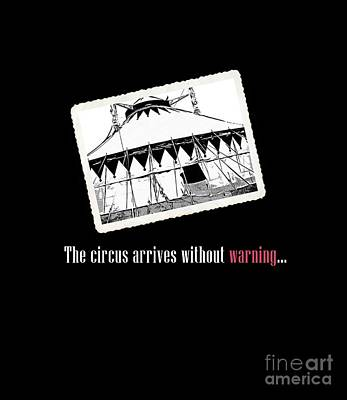 Novel Photograph - Night Circus Tee Black by Edward Fielding