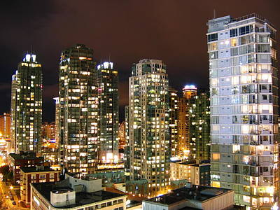 Long Street Digital Art - Night City Sky by BC Scenery