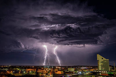 Photograph - Night Clouds And Lightning by Robert Caddy