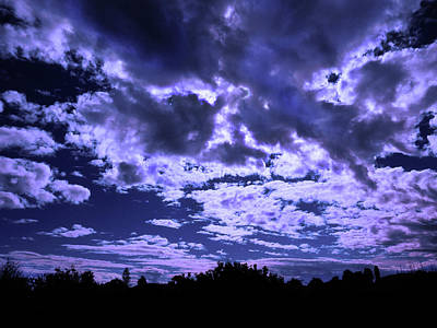 Photograph - Night Clouds by Mark Blauhoefer