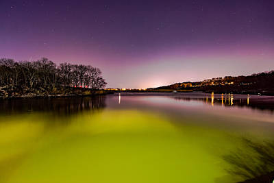 Photograph - Night Colors On The River by Brian MacLean
