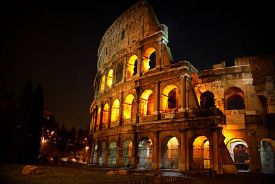 Night Colosseum Print by Kevin Flynn