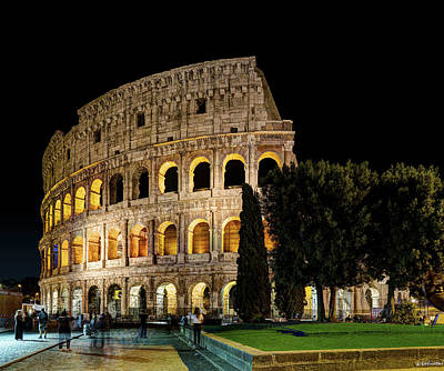 Photograph - Night Colosseum by Weston Westmoreland