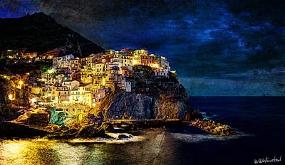 Photograph - Night Comes To Manarola - Vintage Version by Weston Westmoreland