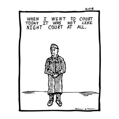 Night Court Comic Art Print by Karl Addison