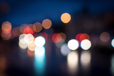 Photograph - Night Defocused Street Traffic by John Williams